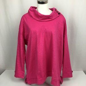 NWT Neon Buddha Women's 1X Pink Tunic Cowl Neck